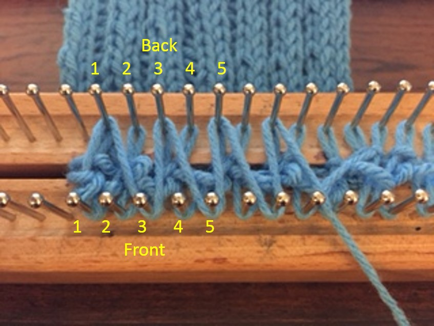 Decreasing Stitches in Rib Stitch - Loom Knit Central