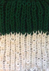 Brioche double-knit loom sample