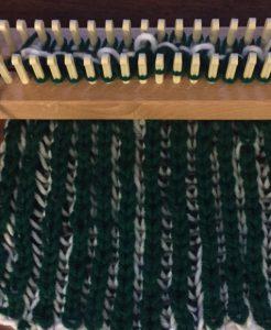 Brioche green side double knit loom