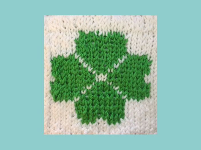 Create A Little Luck With This Easy Clover Pattern Loom Knit Central