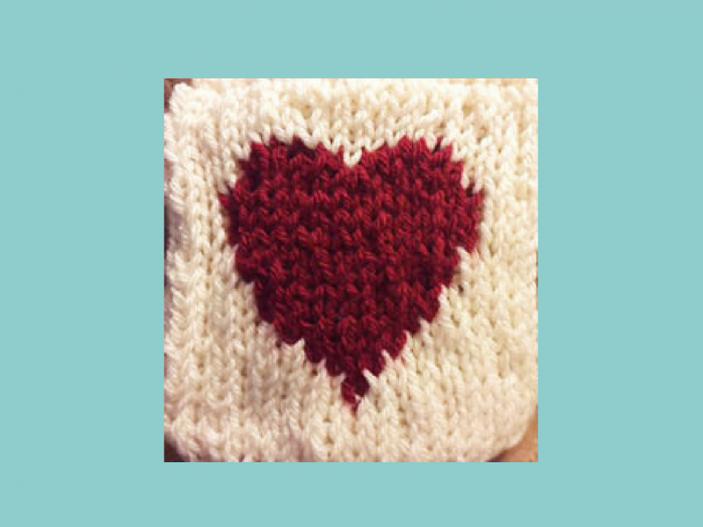 Heart Pattern Loom Knit Central