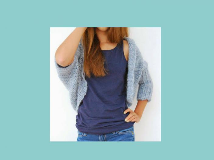 Basic Shrug Pattern   How Lovely! - Loom Knit Central