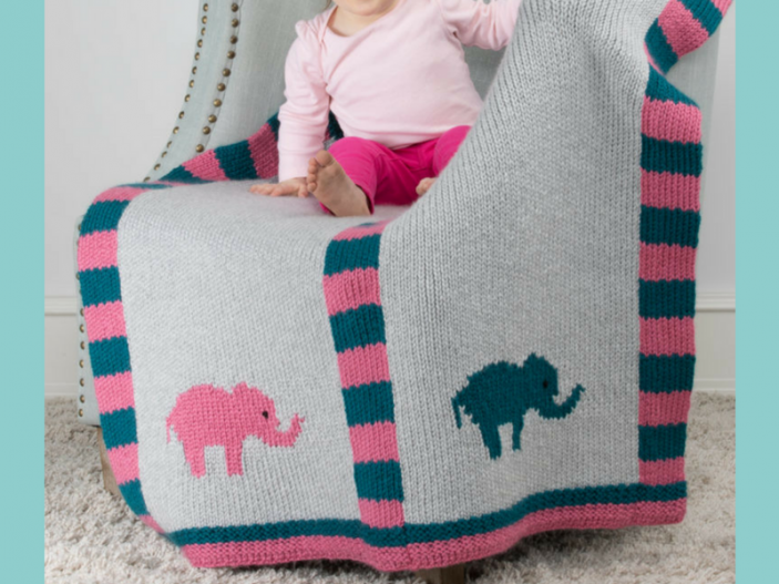 Double Knit Elephant Baby Blanket Loom Knit Central