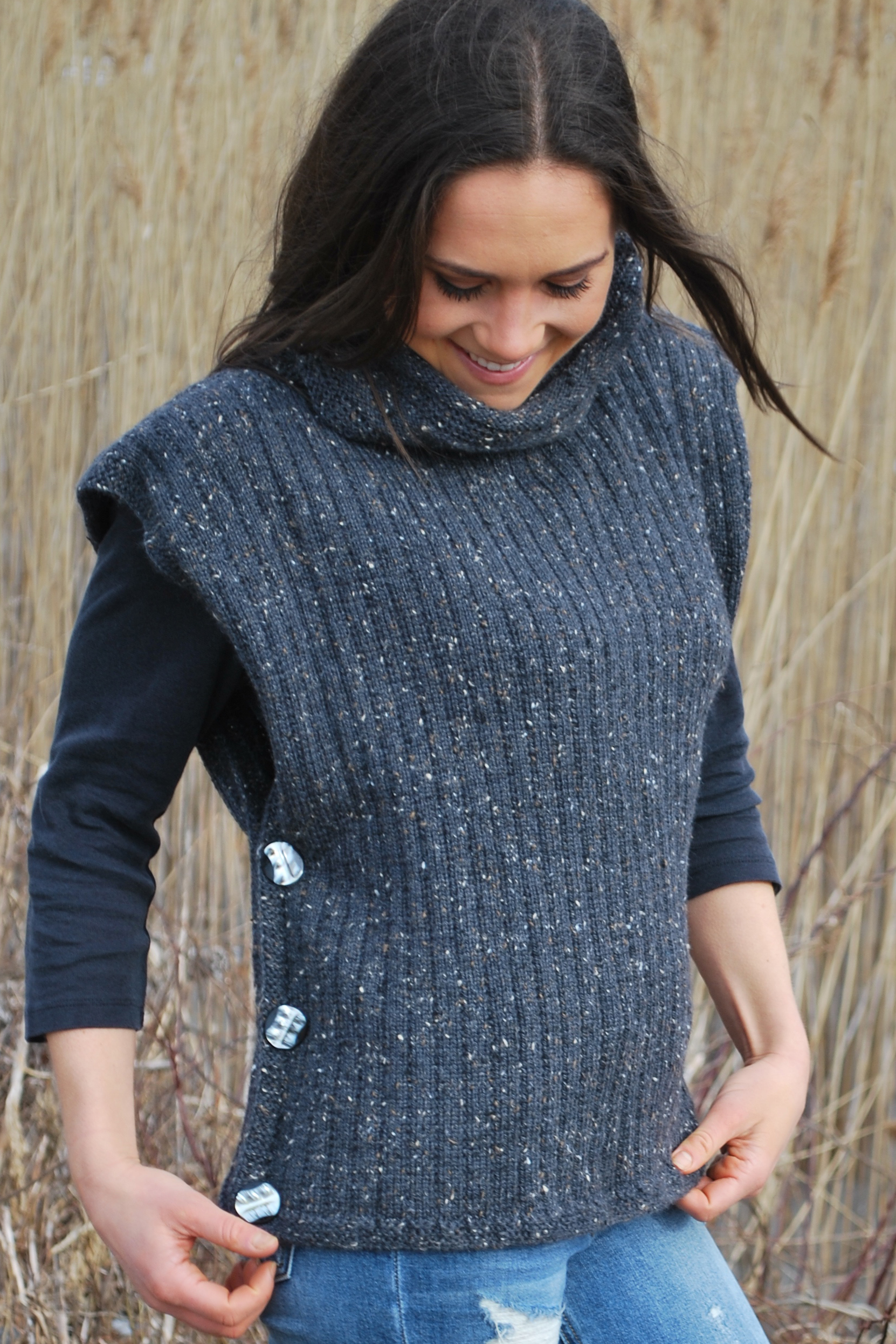 Soft Tweed Poncho Loom Knit Central