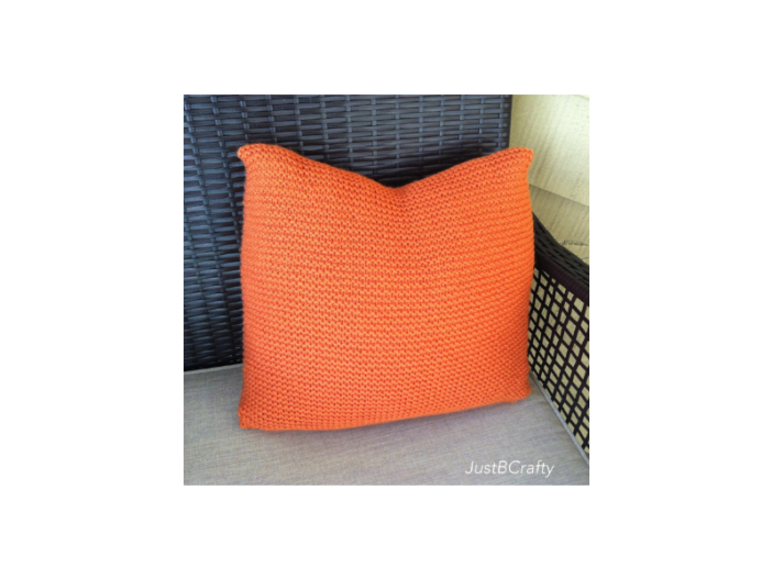 Easy Knit Pillow Cover Loom Knit Central